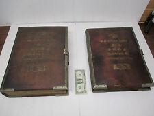 1846 IOOF Odd Fellows 2 Huge Photo Albums Wantastipuet Lodge #15 Brattleboro Vt