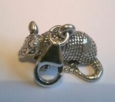 clip on ARMADILLO CHARM - Sterling Silver Charms Animal clasp