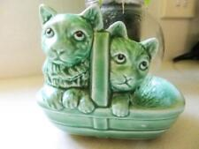 SylvaC Ceramic Kittens in a Basket No 1296 Made in England - Purrfect!