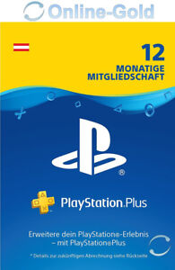 Playstation Plus 12 Monate 365 Tage Mitgliedschaft - PS5, PS4, PS3, PS Vita - AT