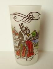 A Gay Fad Walk in the Park Currier & Ives Frosted Glass Collectible