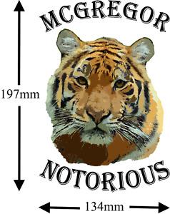 Conor McGregor Notorious Tiger  TEMPORARY TATTOO