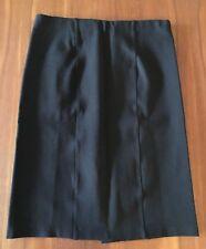 HAMMOCK & VINE Black Ponte Knit Stretch Straight Cut Pencil Career Work Skirt 10