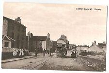 wa irish postcard ireland galway salthill old tram transport