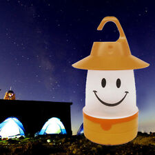 Kids And Adults Smile LED Lantern Cute Camping Handle Multi Use Fun Light Lamp