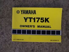 1982 Yamaha YT175K Off Road Motorcycle Owner Manual SEE OUR STORE FOR MORE  S