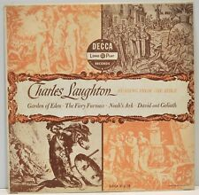 "CHARLES LAUGHTON  ""Reading From The Bible""  Vinyl LP  Decca DL8031"