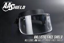 AA Shield Ballistic Glass Visor Bulletproof Face Mask For Helmet Lvl IIIA 3A