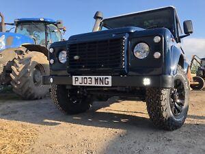 Land Rover Defender Double DRL Bumper ** Billet surrounds**