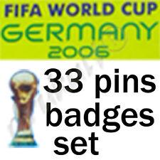 Rare FIFA World Cup Germany 2006 Football Soccer 33 Pin Badge Set Worldcup