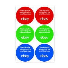 """3-Color, Round eBay-Branded Small Business Sticker Multi-Pack 3"""" x 3"""""""