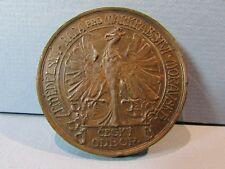 R Old Moravia Bronze Medal PICHL Czechoslovakia Kingdom of Bohemia Moravian Rare