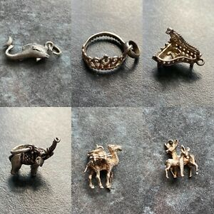 Vintage/modern Sterling silver charms/pendants - various designs - your choice