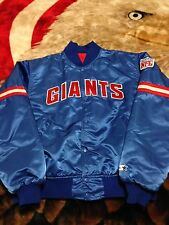 VTG 80s Starter New York Giants NFL Insulated Shiny Satin Jacket XL 90s Retro