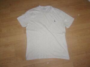 Ralph Lauren Polo, Stone/Beige coloured mens T-shirt size L