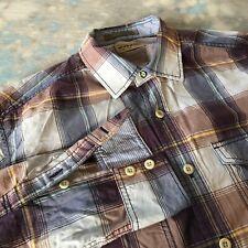 Tommy Bahama Sz M (16-33) Handsome Purple Plaid Button Down Men's Shirt