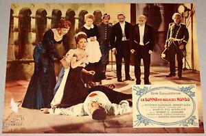 fotobusta film LA DONNA PIU' BELLA DEL MONDO Gina Lollobrigida Anne Vernon 1955