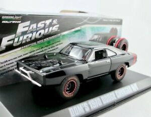 """Dom's 1970 Dodge Charger  (Off-Road) schwarz """"Fast & Furious"""" / Greenlight 1:43"""