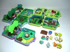 1997 Pokemon Pocket Compact Mini Figure Playset Lot Nintendo Tomy Polly Pocket