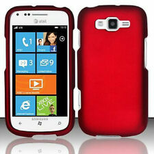 For Samsung Focus 2 i667 Rubberized HARD Protector Case Snap On Phone Cover Red