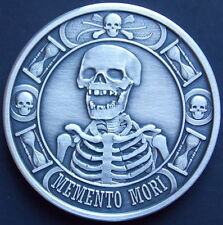 "NEW!! 1 oz Memento Mori ""The Last Laugh"" Antique Finish .999 Silver Round Coin"