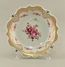 99840767 Porcelana Plato para Tartas Cuenco Wallendorf Rosas Decoración Oro