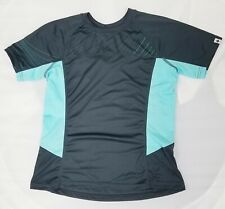 Specialized Women's Andorra Comp Short Sleeve Jersey, Carbon/Light Teal, X-Small