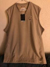 Nike Pga Men's Tour Sleeveless Golf Vest Size Xl Khaki Wisconsin Section Rare