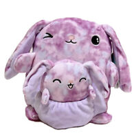 "Squishmallow Kellytoy 8"" Lilac The Bunny & Baby Plush Doll Toy Pillow Pet"