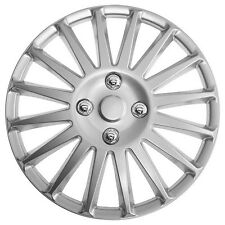 TopTech Speed 14 Inch Wheel Trim Set Silver Set of 4 Hub Caps Covers