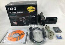 DXG 3D cámara de vídeo videocámara de DVX5F9 negro con tecnología de lente dual #594