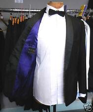 "60s vintage tux dj dinner jacket wool & mohair purple satin lined 40"""