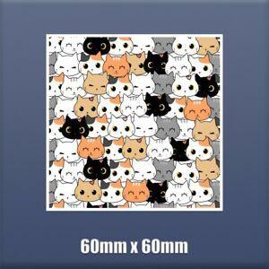 CATS - Self Adhesive Vinyl sticker 60mm x 60mm S85