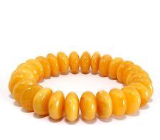 Baltic Amber Adult Egg Yolk Stretch 17 cm Unique Genuine 25.2 g Bracelet