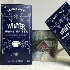 2 Boxes Trader Joes Winter Wake Up Hot Cinnamon Black Tea 40 Bags Spicy Ginger