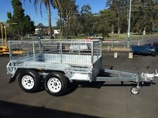 Galvanised 8x5 Tandem Axle Box Trailer and 600mm Cage