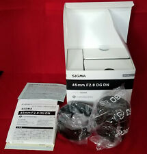 SIGMA 45MM F/2.8 DG DN C CONTEMPORARY LENS FOR SONY E-MOUNT - MINT IN BOX