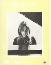 "CAROLE KING ""IT'S TOO LATE"" SHEET MUSIC-1971-EXTREMELY RARE-BRAND NEW ON SALE!!"