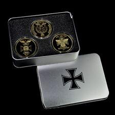 Croce Ferro 3x Medaglie D'oro Oro Set Banca Empire Aquila Imperiale Tedesco