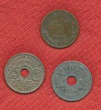 @@@ Lot de 3 Pièces, 1 Franc 1924 - 25 Centimes 1929 - 20 Centimes 1941    @@@