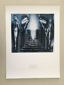 H.R GIGER: 'THE WAY OF THE MAGICIAN,1975 ' RARE AUTHENTIC 1998 ART PRINT