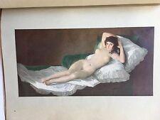 Farbige Künstlermappe Francisco Goya acht Gemäldewiedergaben art Kunst Malerei