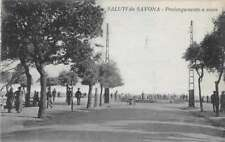 Savona Italy Park View Ocean Front Antique Postcard J70501