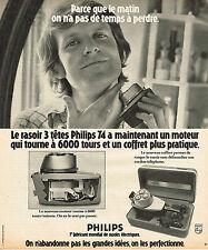 PUBLICITE ADVERTISING 114  1974  PHILIPS  rasoir 3