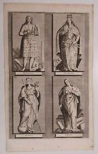 1723 Van der Aa 4 Icone Simboli Donne Matematica Architettura Storia Erudizione