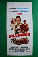 L11 POSTER DILLINGER GANGSTER'S STORY BUTCH CASSIDY WARREN OATES WILIUS