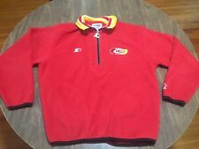 Vintage Kansas City Chiefs Medium Red Fleece Jacket NFL Starter Pro Line 90s