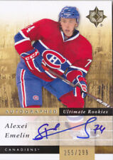 11-12 UD Ultimate Alexei Emelin /299 Auto Rookie Canadiens Collection 2011