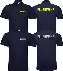 Feuerwehr Polo Poloshirt Reflektierend Versch. Farben Beamte Berufsbekleidung