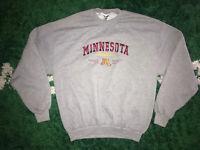 VTG University of Minnesota Golden Gophers NCAA Sweatshirt Embroidered Sz XL